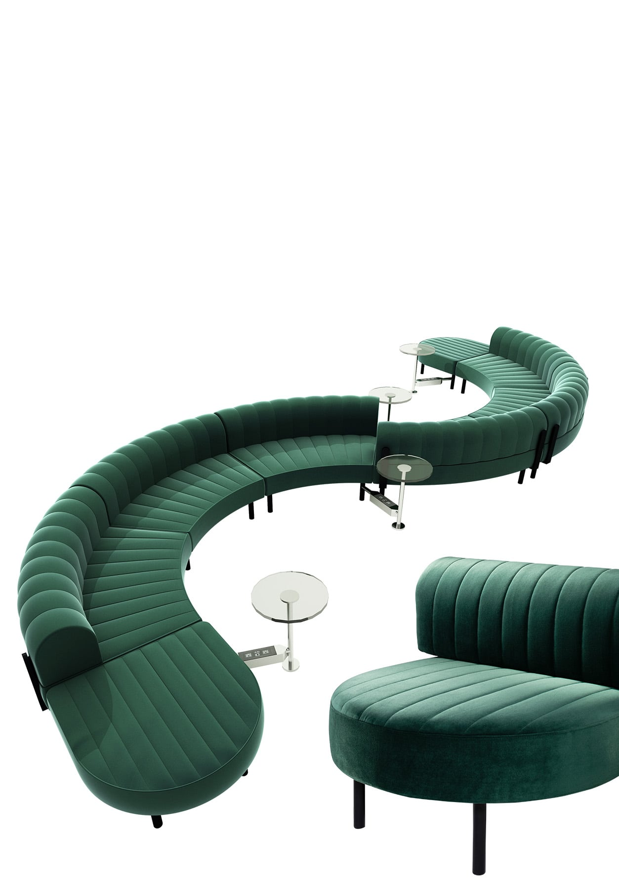 Emerald green rental furniture